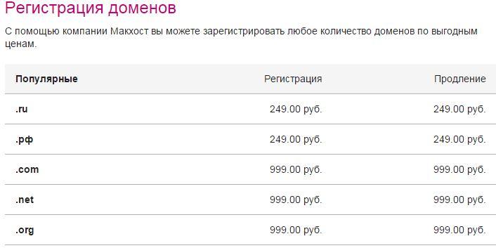 домены mchost.ru