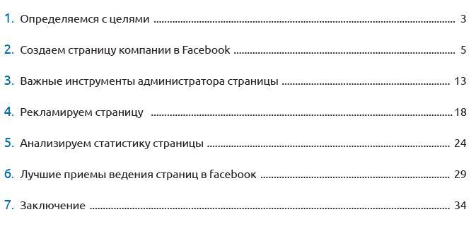 Facebook для бизнеса содержание