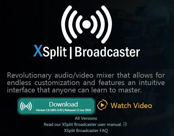 XSplit скачать Broadcaster версию