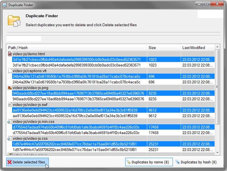 внешний вид приложения Duplicate Finder