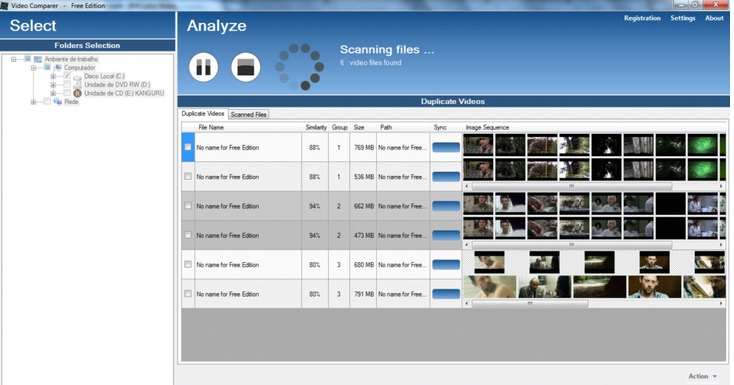 внешний вид приложения Video Comparer