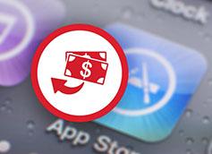 как отменить покупку в app store