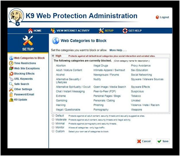 программа K9 WebProtection