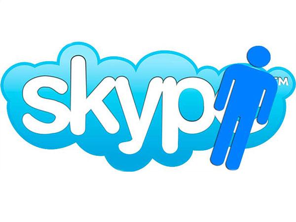 логотип скайпа с фигурой человека