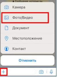 выбор файлов для отправки в ватсап на айфоне