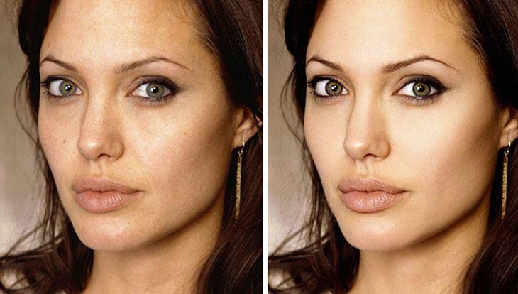 Анджелина Джоли ретушь